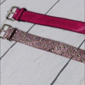 Pink Belts (2 ) glitter studded  and pink stocking